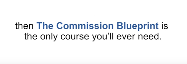 Is the commission blueprint a scam
