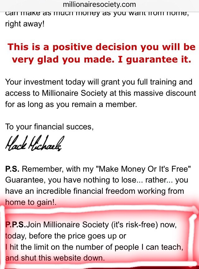 is millionaire society a scam