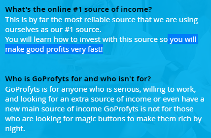 is goprofyts a scam