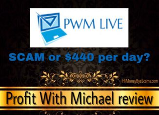 PWM Live review - Is Profit With Michael a scam? - Hi Money Bye Scams