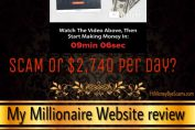 is my millionaire website a scam