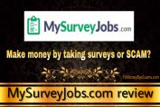 is mysurveyjobs.com a scam