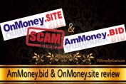 AmMoney.bid and OnMoney.site scam
