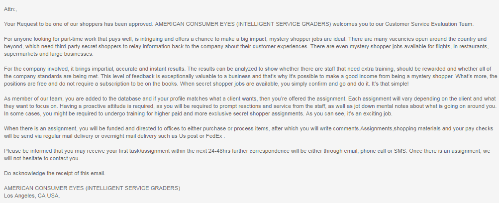 Is American Consumer Eyes a scam?