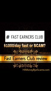 Is Fast Earners Club a scam?