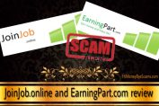 JoinJob.online and EarningPart.com scam