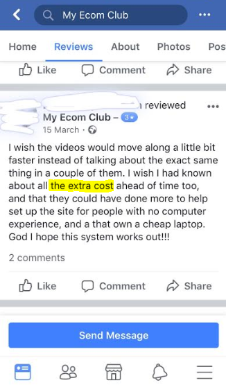 My Ecom Club review - Is it a scam?