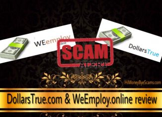 WeEmploy.online and DollarsTrue.com scam