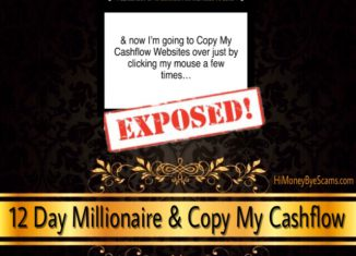 12 Day Millionaire & Copy My Cashflow review - The SAME SCAM exposed!