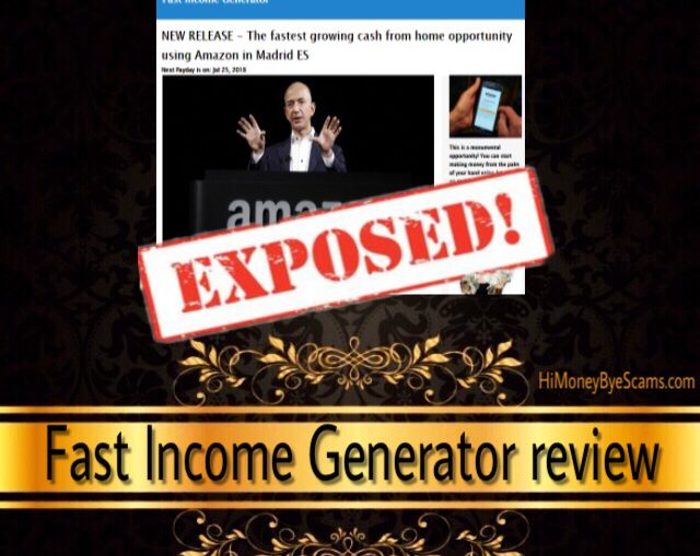 Fast Income Generator scam - All RED FLAGS exposed!