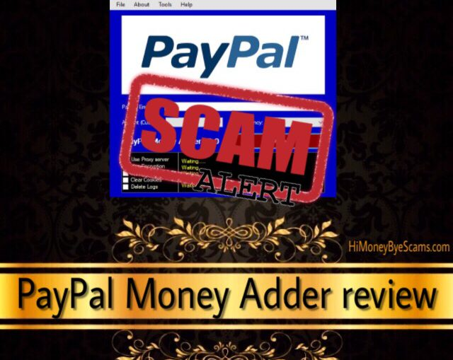 PayPal Money Adder scam – NOT FREE MONEY found on the
