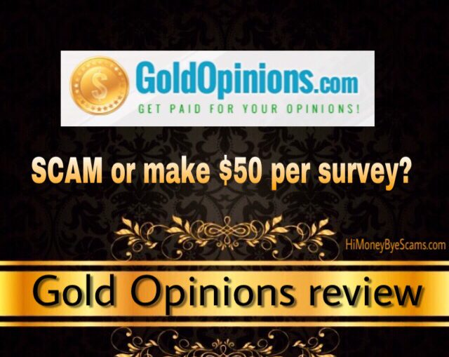 Is Gold Opinions a scam? Review
