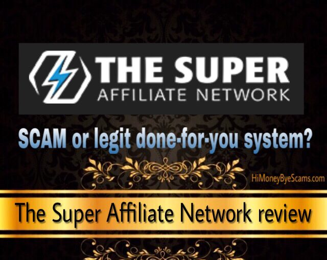 The Super Affiliate Network scam review