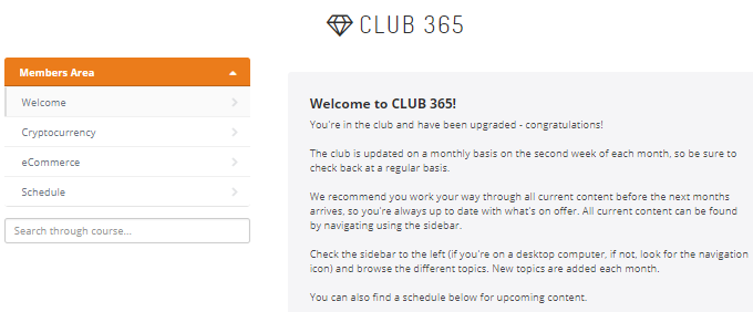 Is Club 365 a scam? Members area