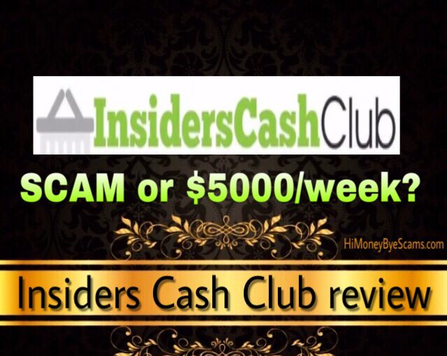 Insiders Cash Club review scam