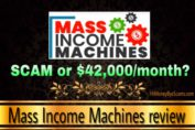 Mass Income Machines review scam