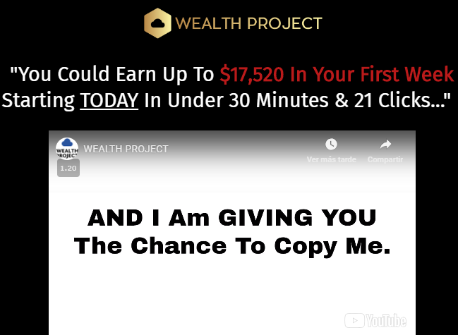 Wealth Project review sales video