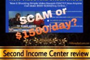 Second Income Center scam review