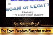 The Ecom Freedom Blueprint review scam