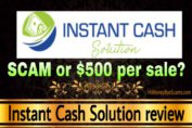 Instant Cash Solution review scam