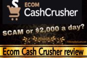 Ecom Cash Crusher review scam