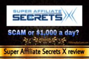 Super Affiliate Secrets X review scam