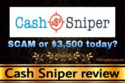 Cash Sniper review scam