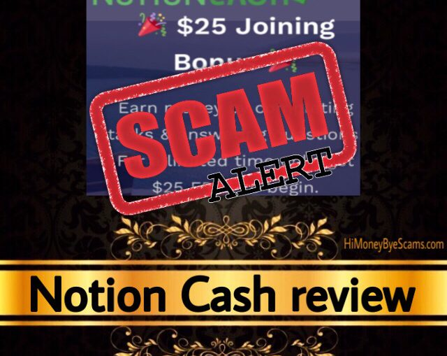 Notion Cash review scam