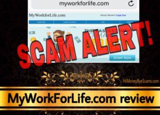 MyWorkForLife.com review scam