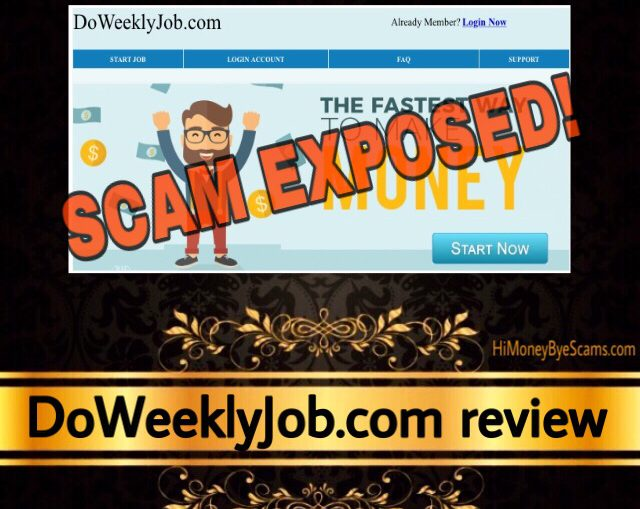 DoWeeklyJob.com scam review