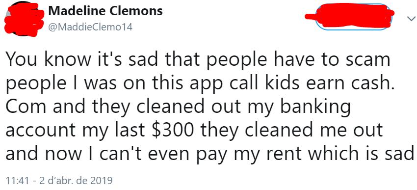 KidsHaveMoney.com complaint