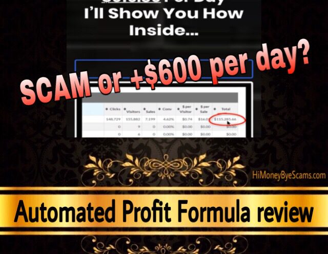 Automated Profit Formula review scam
