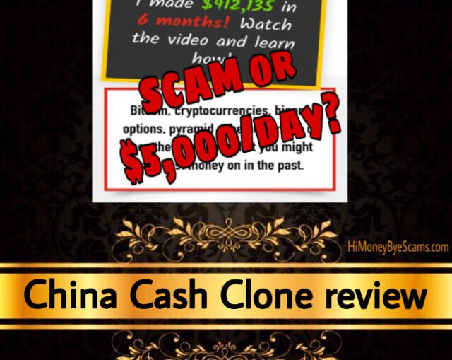 China Cash Clone scam review