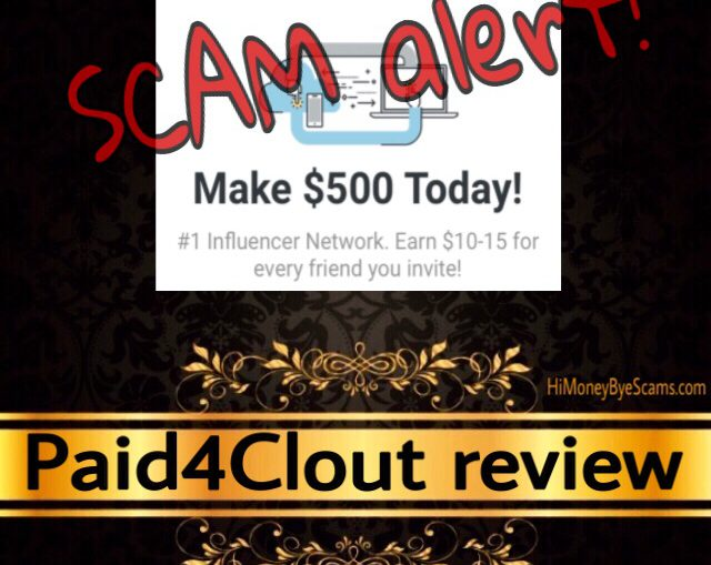 Paid4Clout scam review
