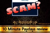 10 Minute Paydays review scam