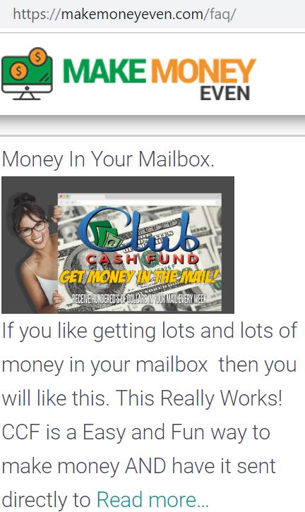 Make Money Even review ccf