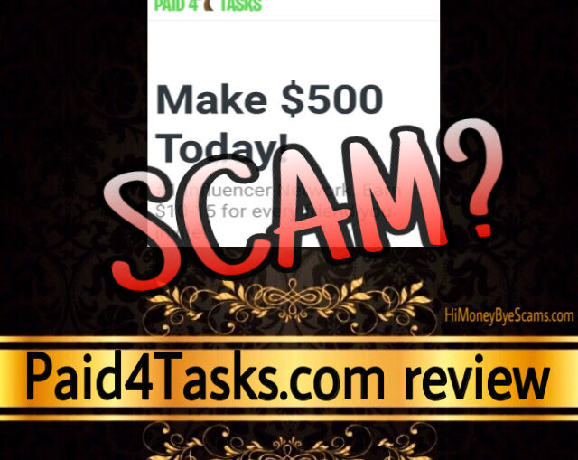 Paid4Tasks scam review