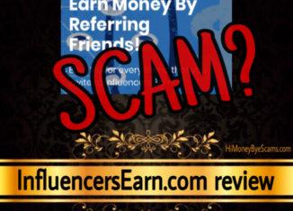 InfluencersEarn.com scam review