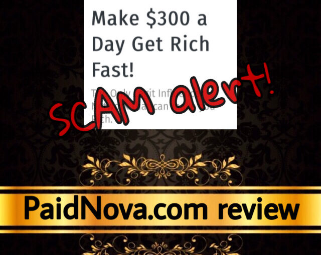 PaidNova scam review