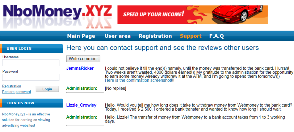 NboMoney.xyz review fake comments