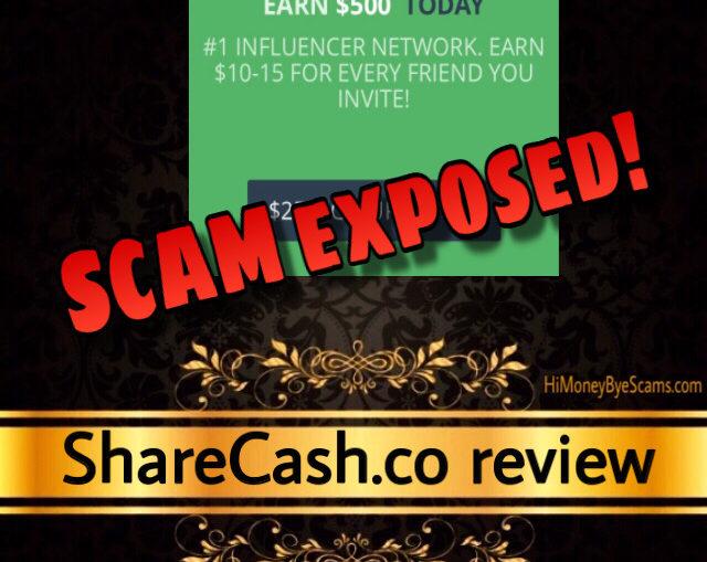 ShareCash.co scam review