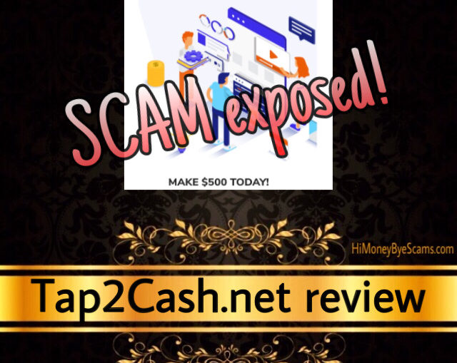 Tap2Cash.net review scam