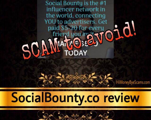 Social Bounty review scam