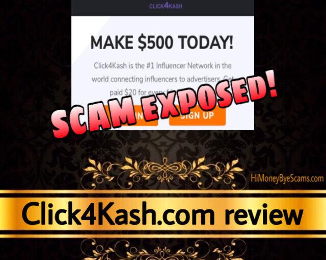 Click4Kash.com scam review