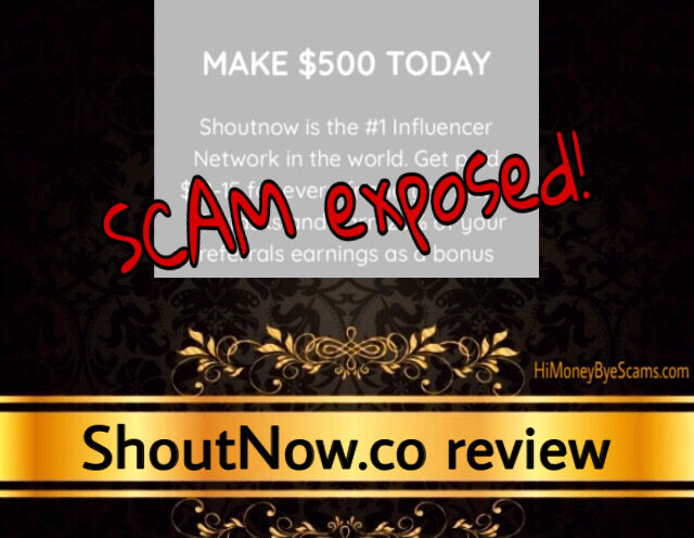ShoutNow.co scam review