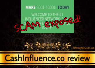 CashInfluence.co scam review