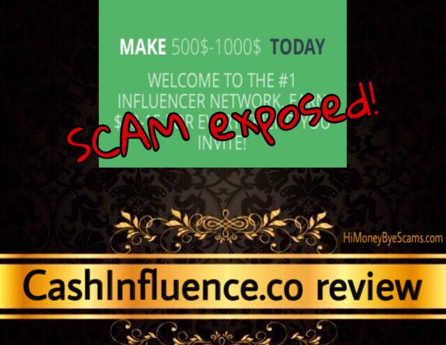 CashInfluence.co scam review