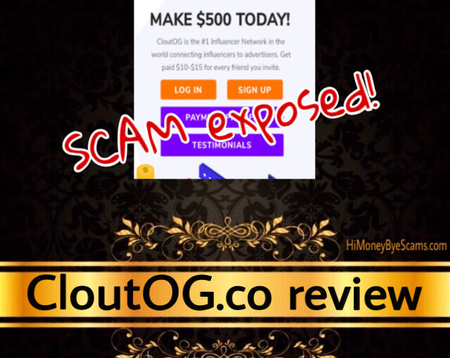 CloutOG.co review scam