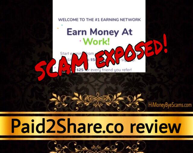 Paid2Share.co scam complaints