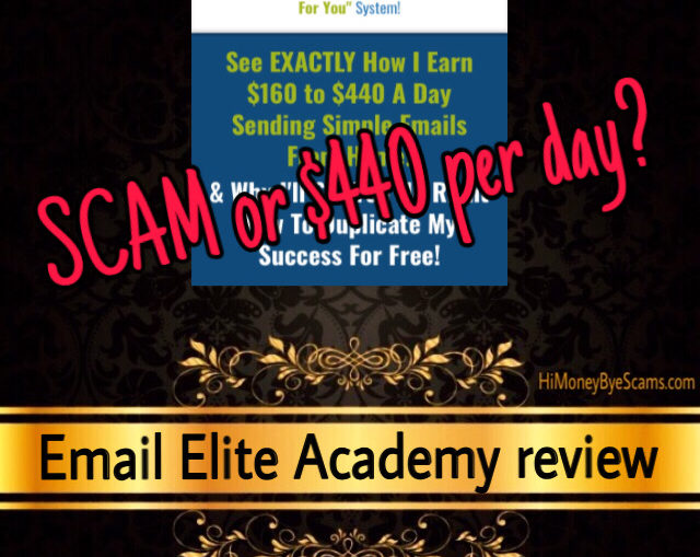 Email Elite Academy scam review